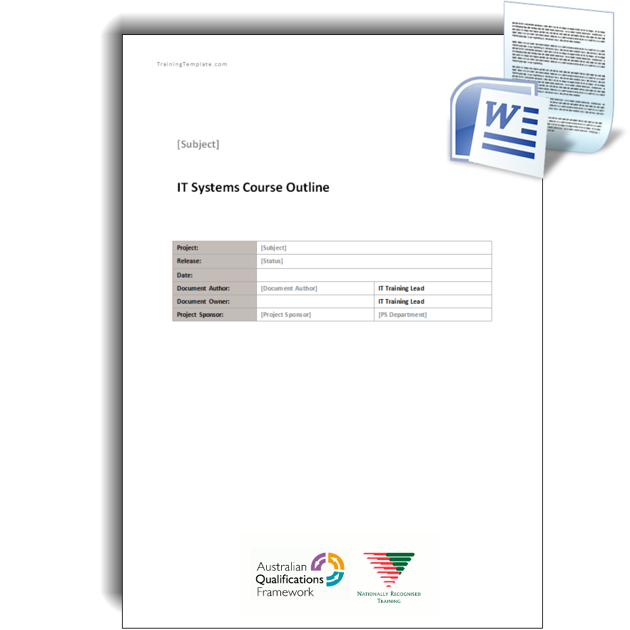Training course outline training template training course outline maxwellsz